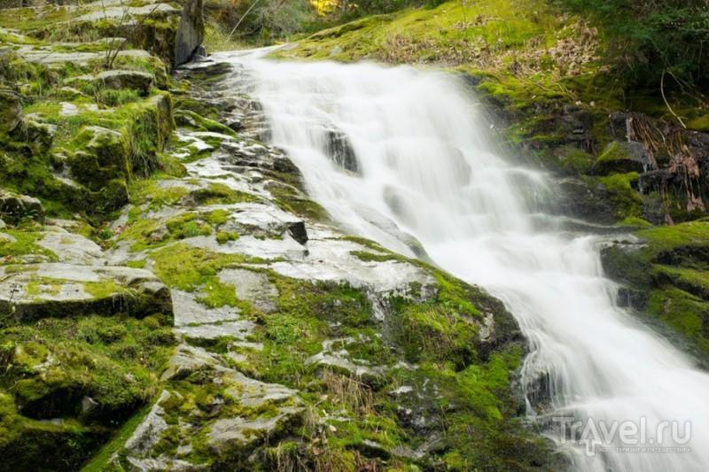 Водопады на озере Шаста. Калифорния / США