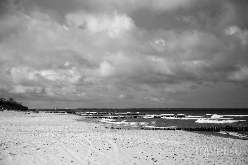 Зеленоградские ветряки, море, пляж / Россия