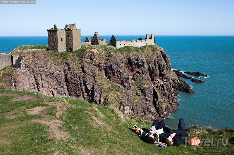 Шотландия, замок Данноттар и Лоссимут / Фото из Великобритании