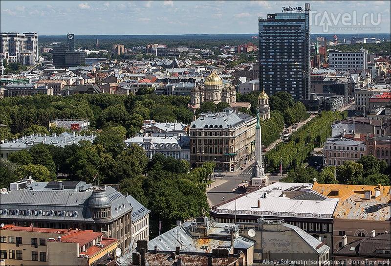 Рига с высоты церкви Святого Петра / Фото из Латвии