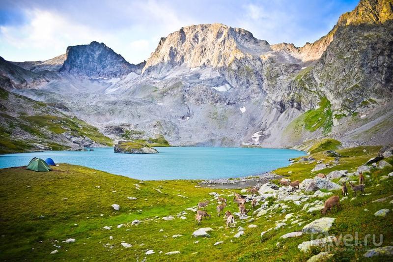 Козлы, озера, перевал / Россия