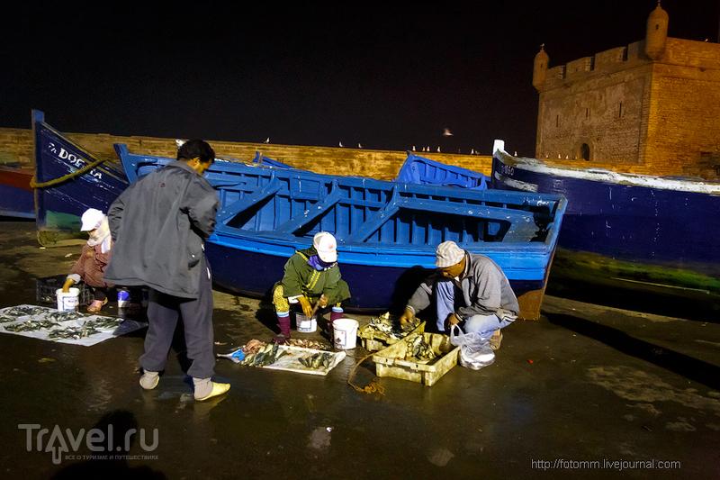 Марокко. Эссуэйра. Ночь в порту / Фото из Марокко