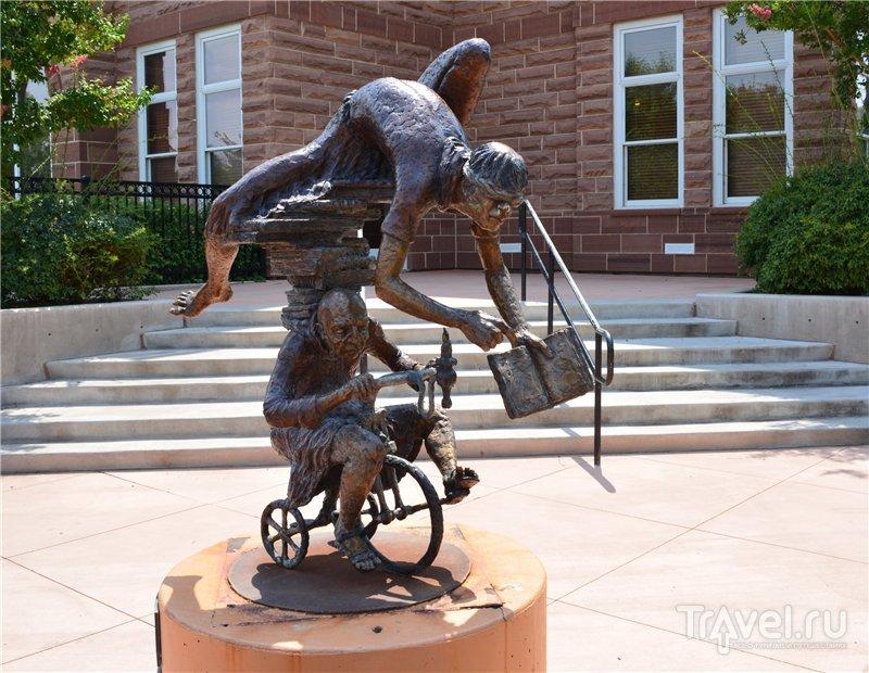 Махровый мормонский городок St George, штат Юта / США