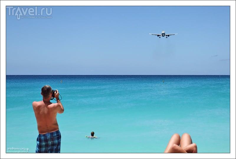Сен-Мартен: пляж под крылом самолета