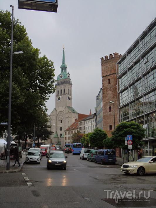 Прогулка под дождем по центру Мюнхена / Германия