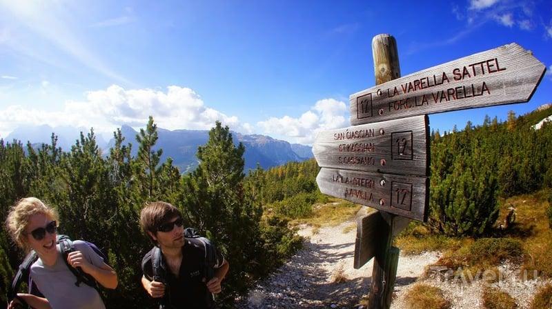 Südtirol, Indian Summer in the Dolomites. Хат Lavarella и Lagazuoi / Фото из Италии