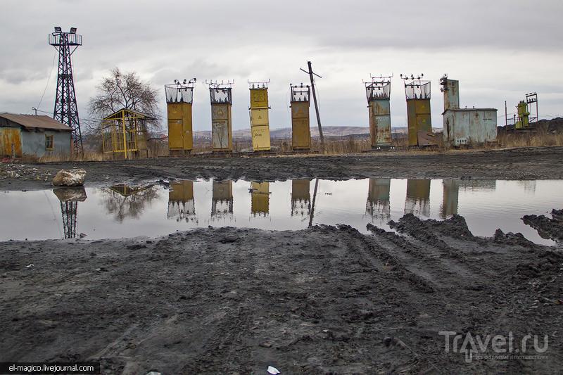 Бачатский угольный разрез и поселение телеутов / Россия