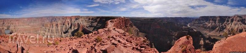 Гранд Каньон. Вид с земли и с воздуха / США