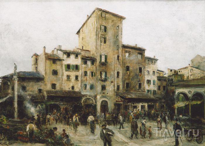 Собор Санта-Мария-дель-Фьоре и город с колокольни Джотто / Фото из Италии