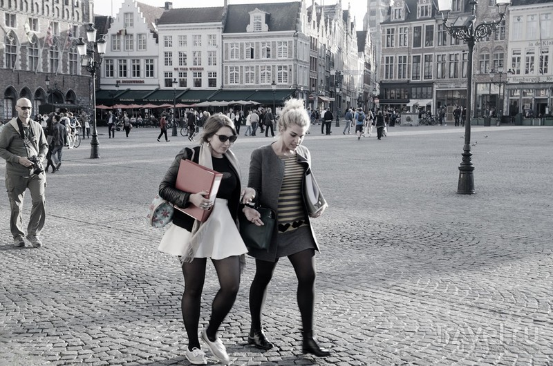Почти черно-белый Брюгге / Бельгия