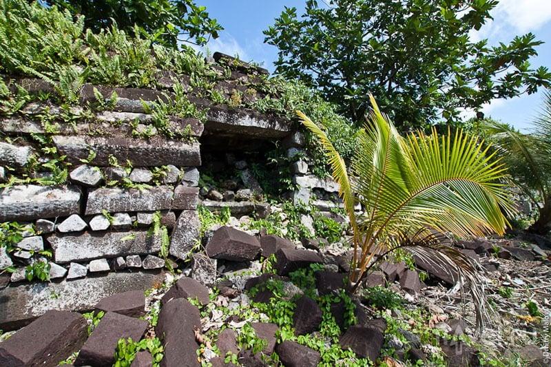 Климат и джунгли уничтожают старый город / Микронезия