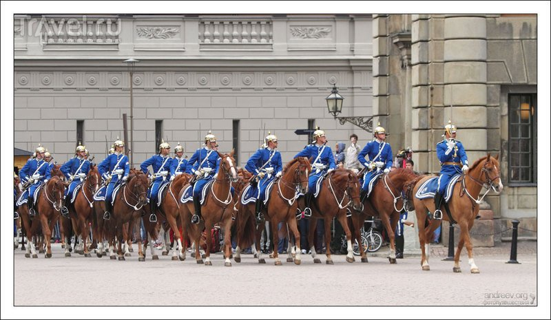 Стокгольм: королевская гвардия Швеции / Фото из Швеции