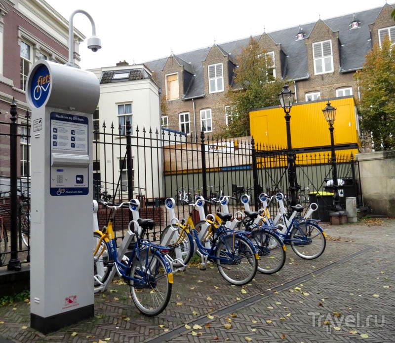Автоматический прокат велосипедов в Утрехте, Нидерланды / Фото из Нидерландов