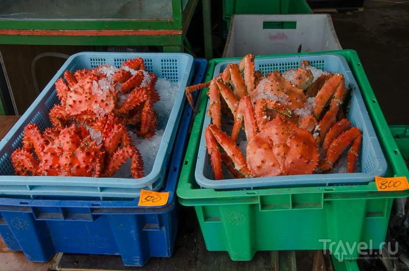 Крабы на магаданском рынке / Фото из России