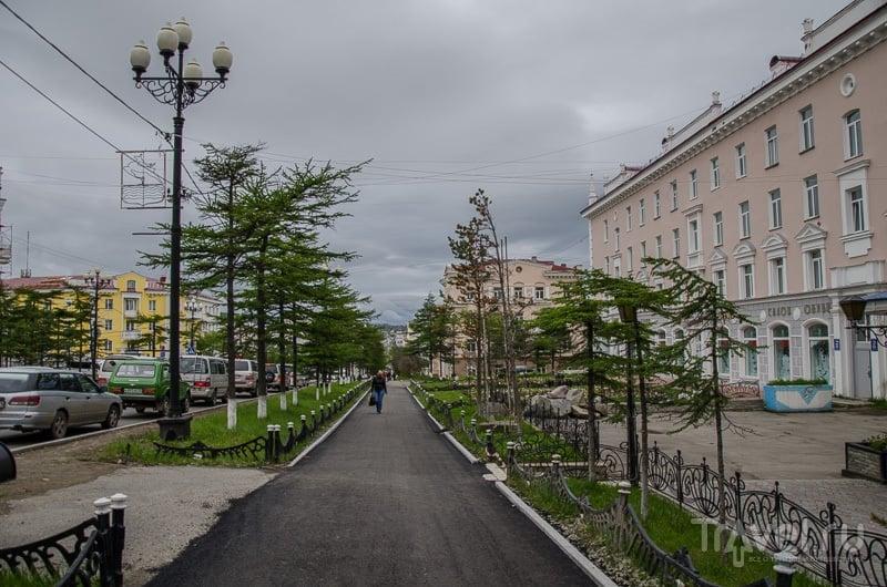 Проспект имени Ленина в Магадане / Фото из России