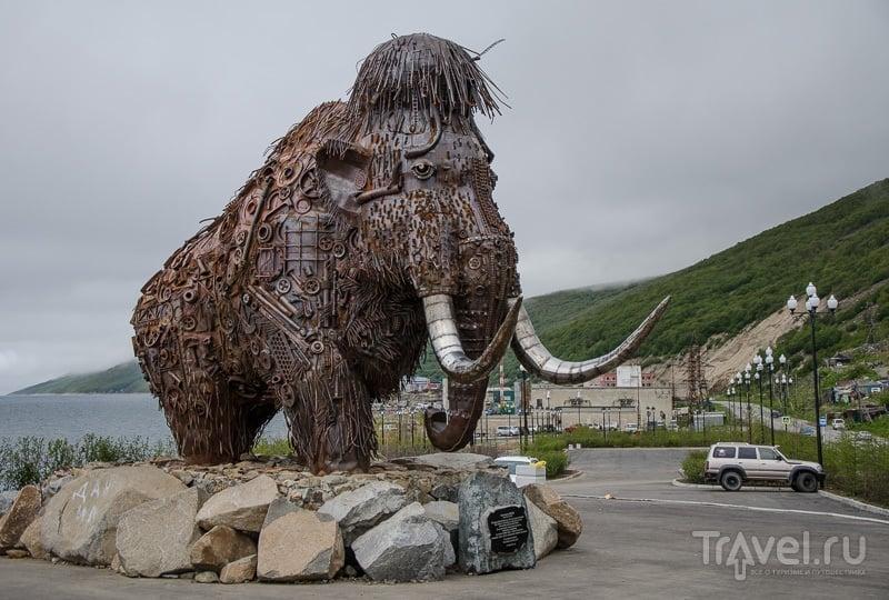 Памятник мамонту в Магадане / Фото из России