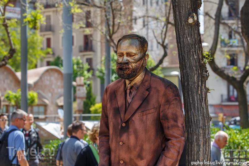 Уличные артисты Барселоны / Испания