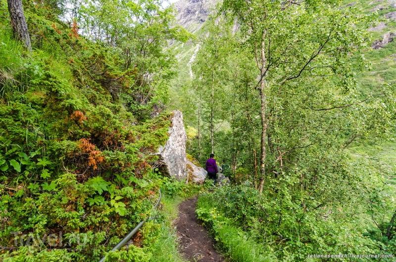 Норвегия 2013. Дорога 258. Водопад Овстефоссен / Фото из Норвегии