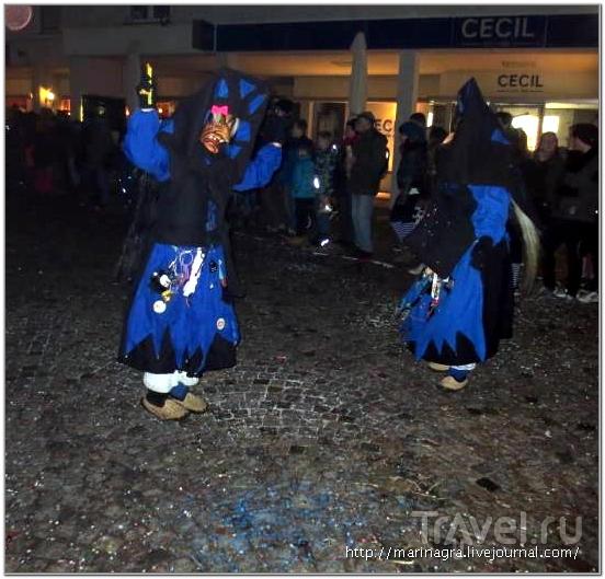 Вечерний парад шварцвальдских ведьм в Эммендингене / Германия