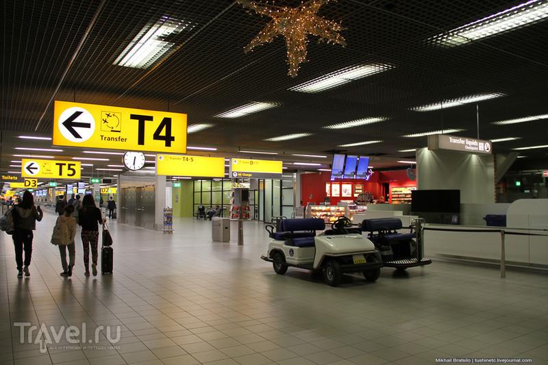 Новогодний аэропорт Схипхол в Амстердаме / Нидерланды