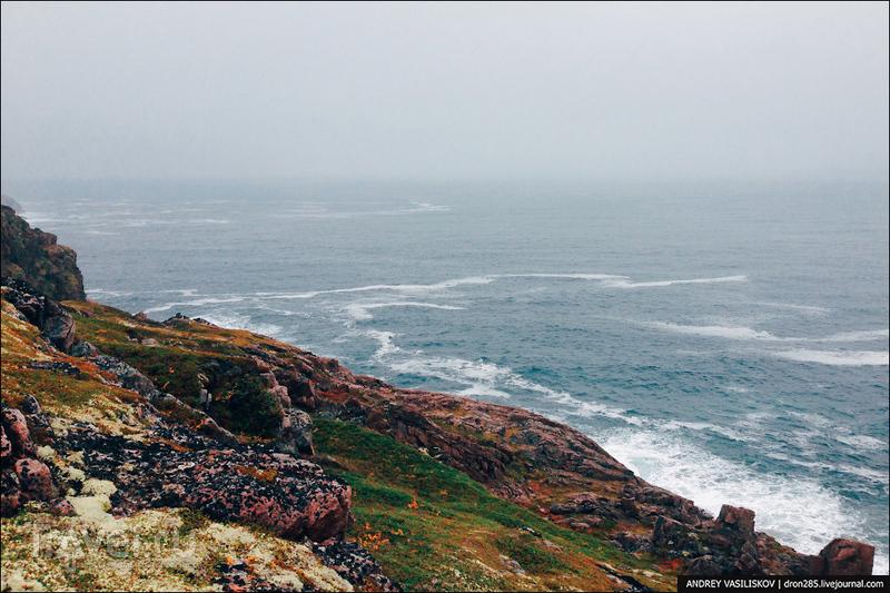 Териберка: дорога и берег Баренцева моря / Фото из России