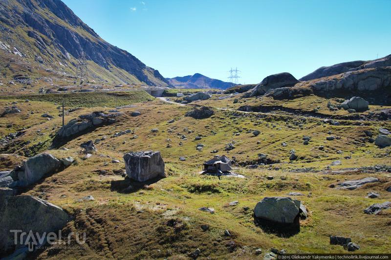 Artilleriewerk San Carlo - секретная крепость перевала Сен-Готард / Фото из Швейцарии