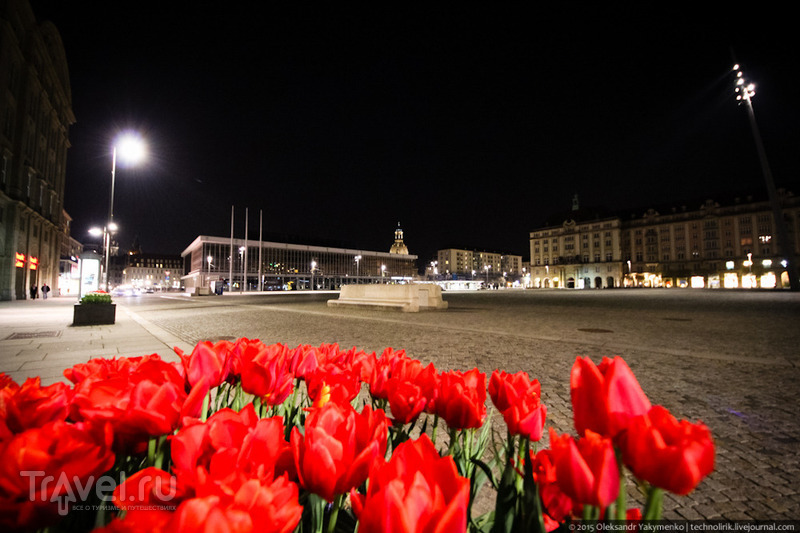 Прогулка по ночному Дрездену / Германия