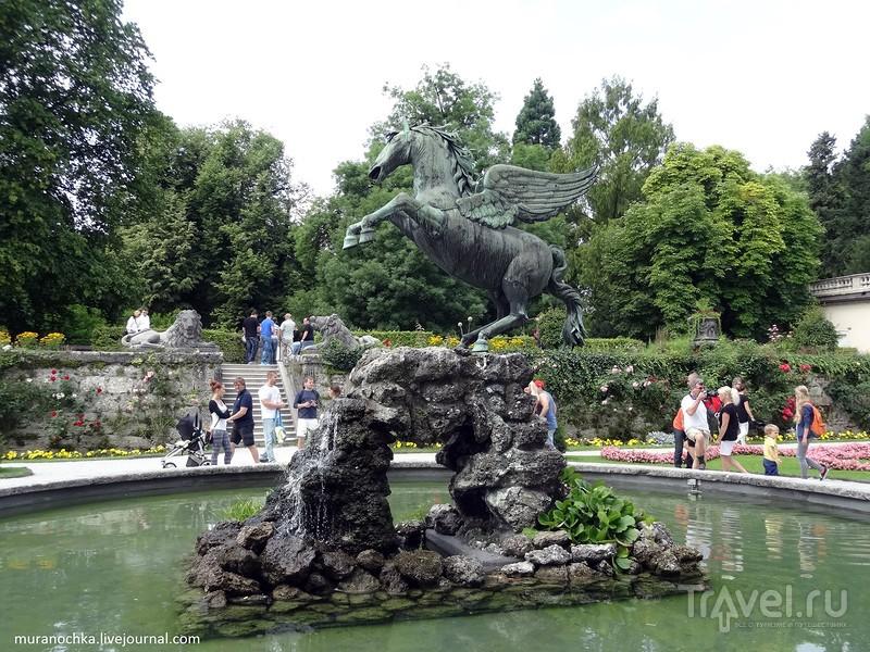 Зальцбург: парк Мирабель и набережная реки Зальцах / Австрия