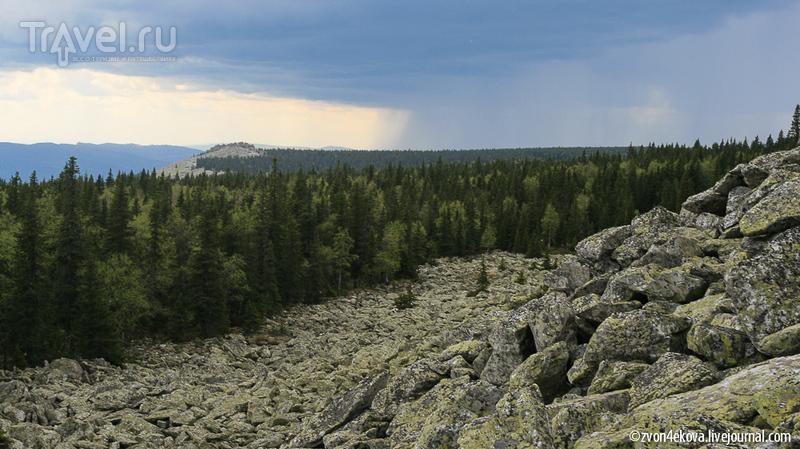 Южный Урал. Град на вершине Поперечной (хребет Зигальга) / Фото из России