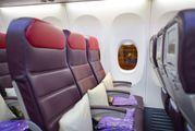 В салоне самолета авиакомпании Malaysian Airlines