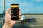 За табло аэропорта можно следить по мобильному телефону