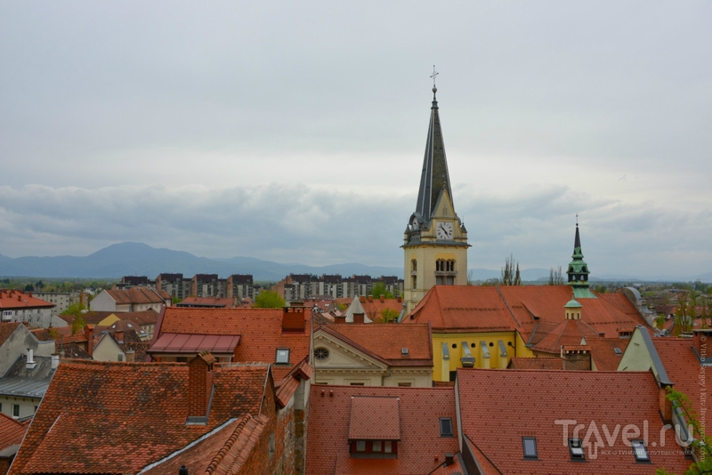 Как выглядит Любляна с высоты птичьего полета? / Словения