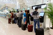 Посадочный талон на следующий рейс удастся получить в киоске саморегистрации