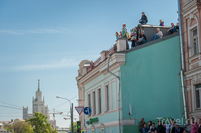 Парад победы - вид с галерки / Россия