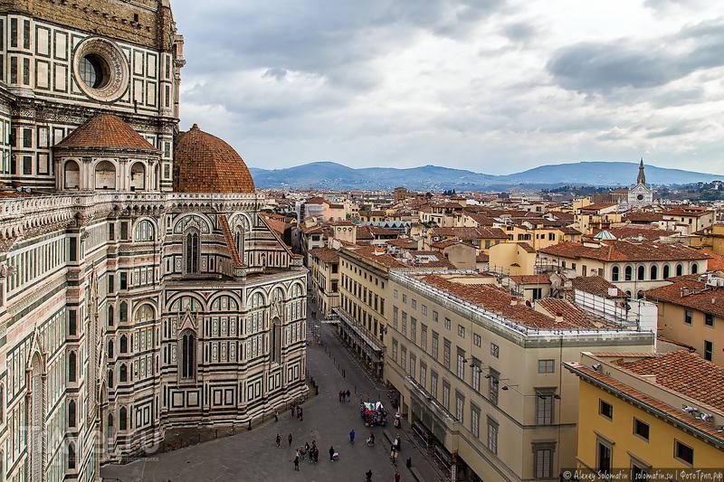 Флоренция с высоты колокольни Джотто / Фото из Италии