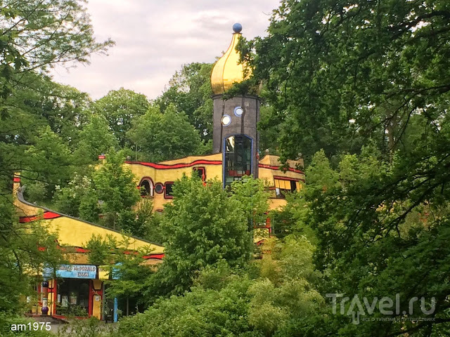 Германия. Gruga Park (Essen). Фламинго, соляная стена и Хундертвассер / Германия