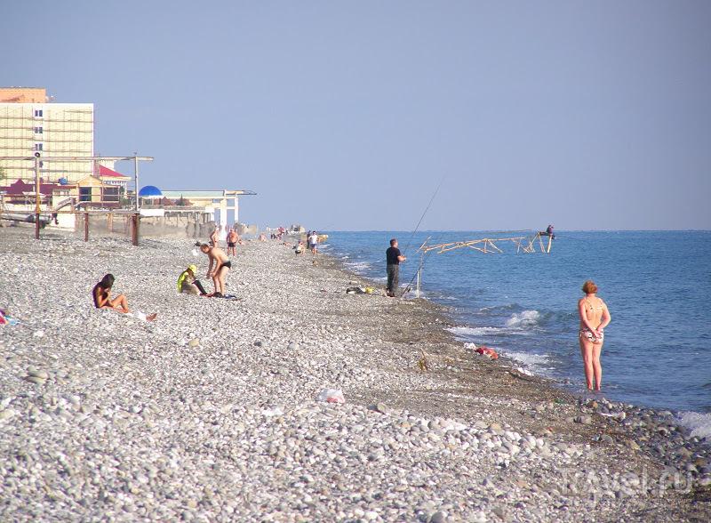Сочи. Лоо. На пляже / Россия