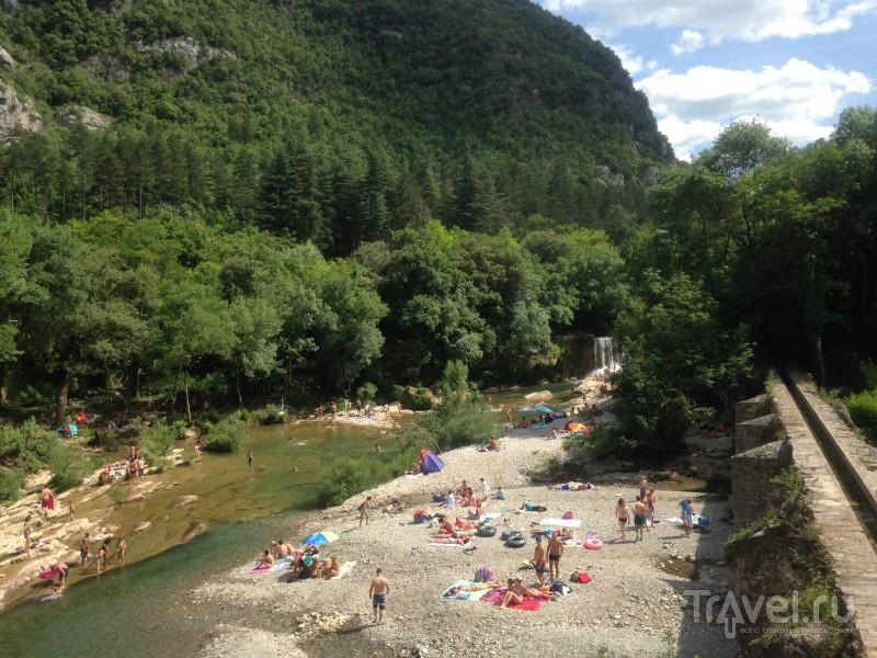 Водопад Saint Laurent le Minier / Франция