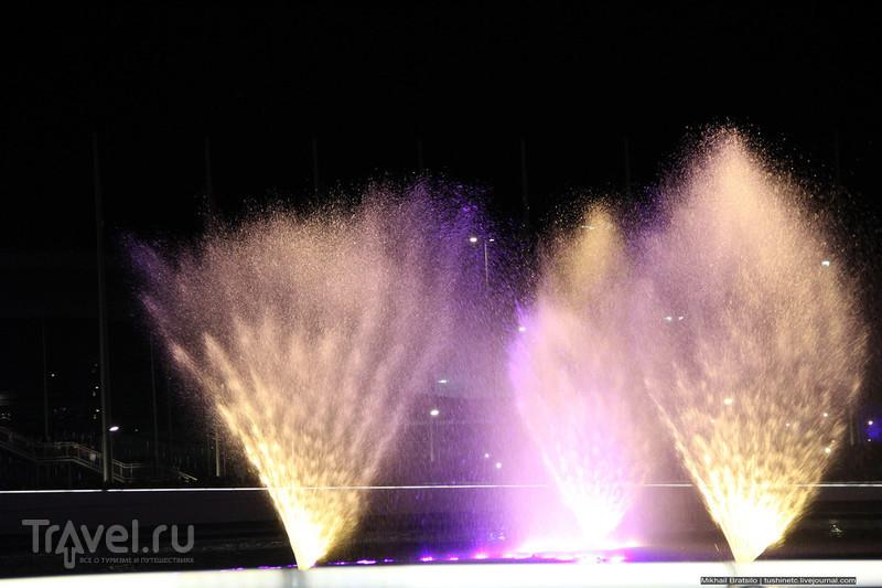 Шоу фонтанов в Олимпийском парке Сочи / Россия