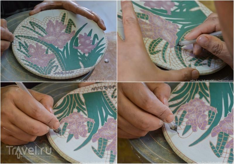 Как собирают мозаику в Иордании / Иордания