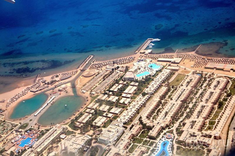 Египет, Хургада, фото с самолета / Фото из Египта