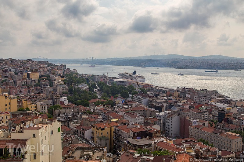 Панорамы Стамбула с галатской башни / Фото из Турции