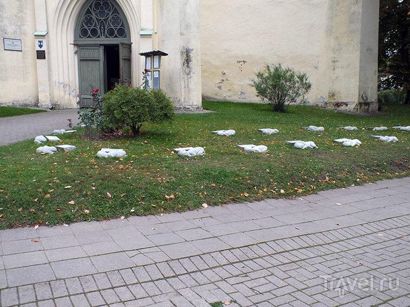 Вход в церковь Св.Екатерины / Фото из Латвии