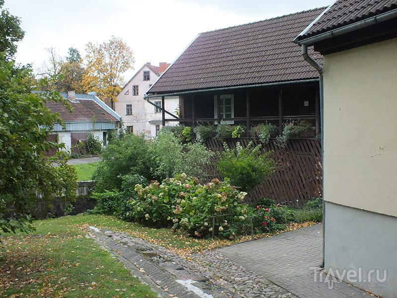 Дома около церкви Св.Екатерины / Фото из Латвии