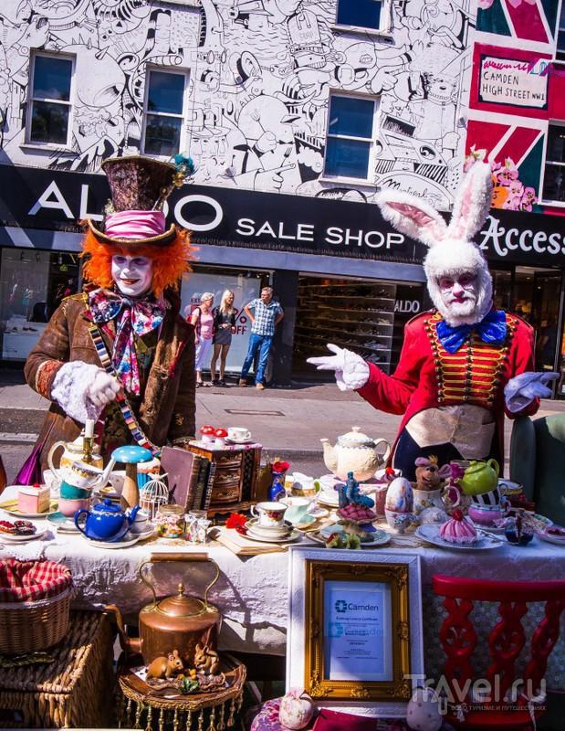Рынок Камден в Лондоне / Великобритания