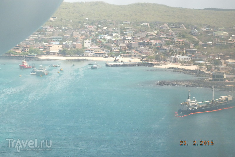 Галапагосы. Перелет остров Балтра - остров Сан-Кристобаль / Эквадор