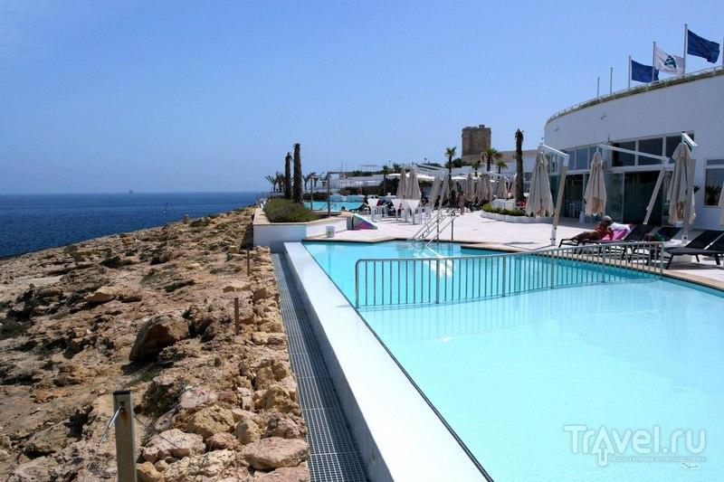Сент-Полс-Бэй. Мальта - Как купаться если плохой берег и холодно? / Мальта