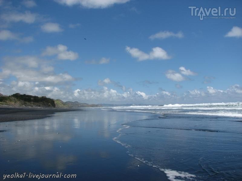 В стране антиподов. Черные пляжи Северного острова / Фото из Новой Зеландии