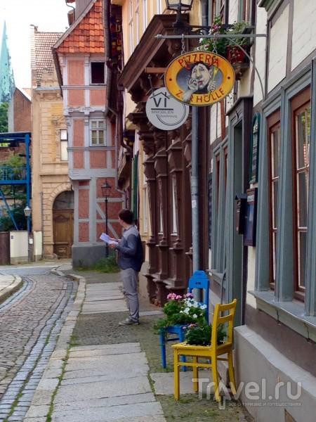Где-то между фахверками, с кружкой темного пива... Кведлинбург, Германия / Германия