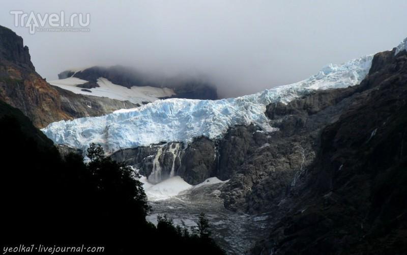 Чили - сбыча мечт! Карретера Аустраль. Термас Амарийо, озеро и ледник Йечо,  и оползень на дороге / Чили